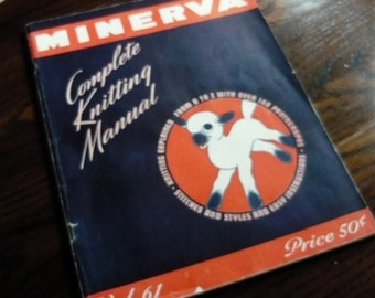 WOW Very rare 1942 Minerva Complete Knitting Manual Volume 61