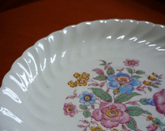 Vintage Gilda by Royal Ohio Saucer Plate with Flowers from the Brotherhood of Operative Potters