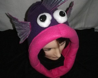 Novelty Fish Hat, Warm and Fleecy