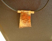 Hand Hammered and fired Copper Necklace