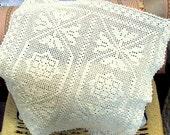 Vintage Greek Crochet Wedding Present Doily/Mat,Estate Collection 1954
