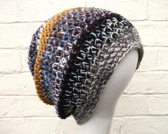 Handmade beanie hat, warm winter accessory, chunky crochet hat.