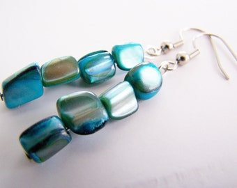 Surfside - Ocean Blue Mother of Pearl Stacks - sale item- affordable gifts and everyday treasures - blue - blues - azure