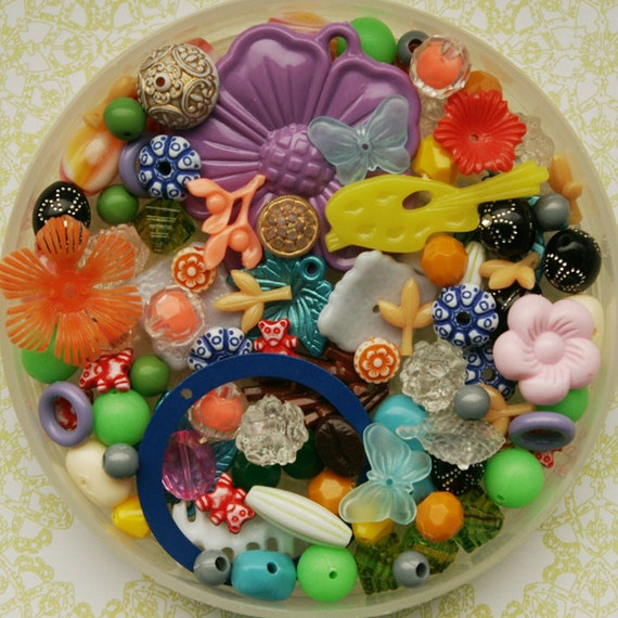 Rainbow bead mix - 100 pieces (no.1)