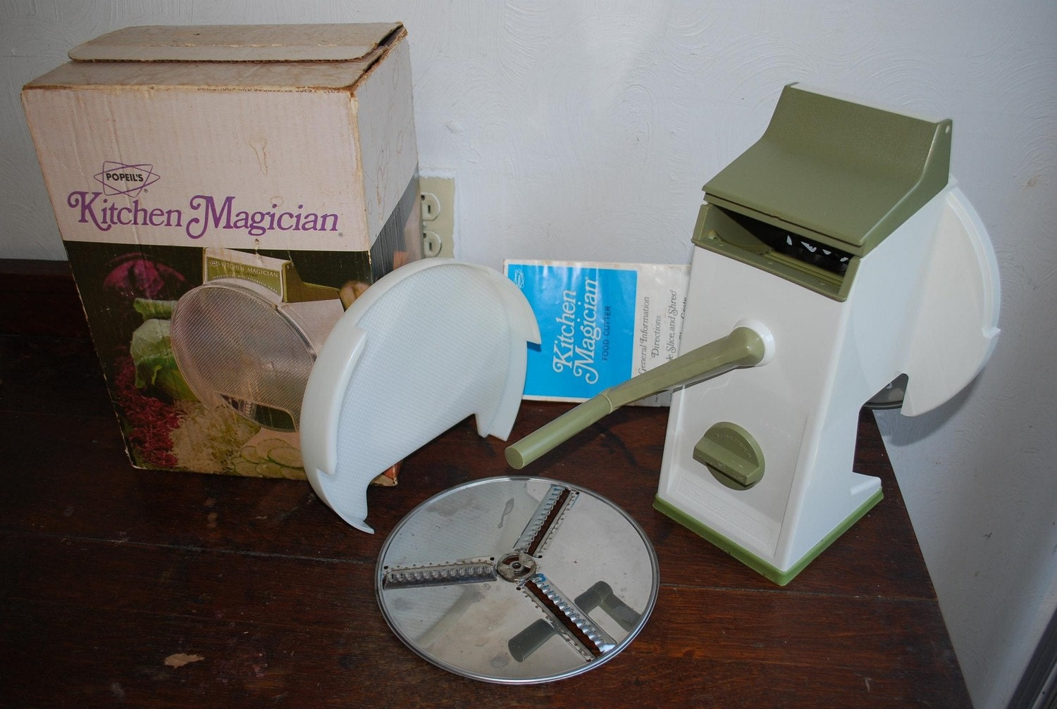 Popeil Kitchen Magician Food Cutter Instructions
