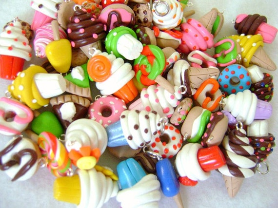 15 Assorted Polymer Clay Charms