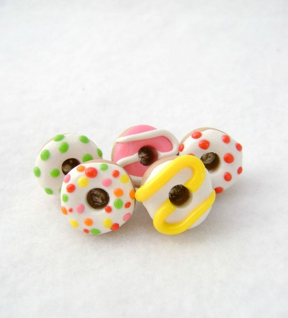 Colorful Iced Donut Pushpins