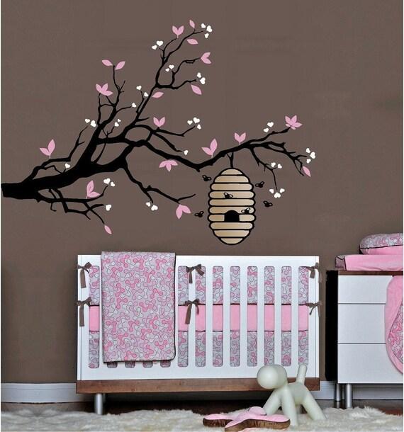 BEE HIVE on a TREE Branch Nursery Wall Art Decor