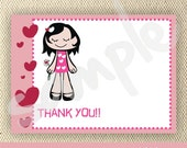 Fancy Girl Theme - Thank You Cards with Envelopes - Set of 20