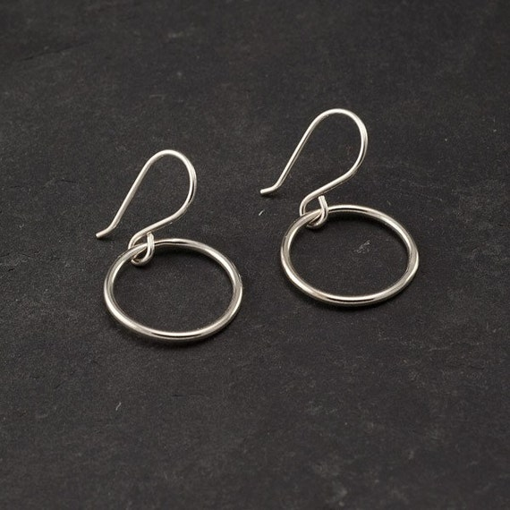Small Hoop Earrings- Sterling Silver Earrings- Silver Hoop Earrings- Simple Circle Hoop Earrings- Simple Silver Hoops- Everyday Hoops