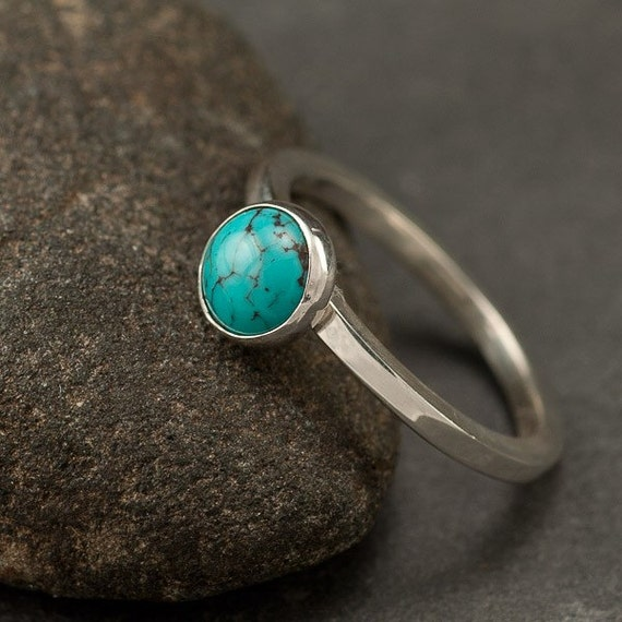 Turquoise Ring Blue Stone ring Sterling Silver Ring Silver Rings For Men With Blue Stone