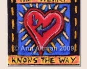 The Heart Knows the Way - greeting card