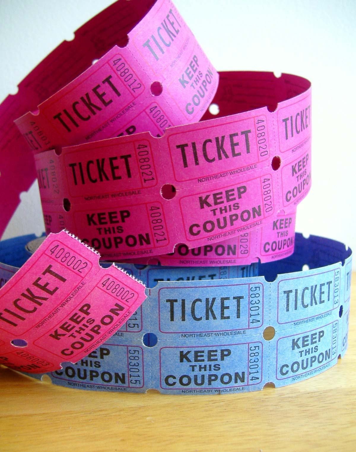 shipping blue and pink raffle ticket coupons pk 128270zoom