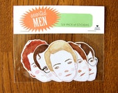 Assorted Men - Six pack of Stickers