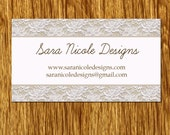 RESERVED FOR Taylord Designs 100 Lace CUSTOMIZABLE business cards