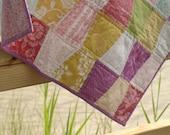 lavender tumbler modern baby quilt