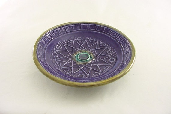 Crop Circle Sacred Geometry Offering Bowl Handmade Pottery