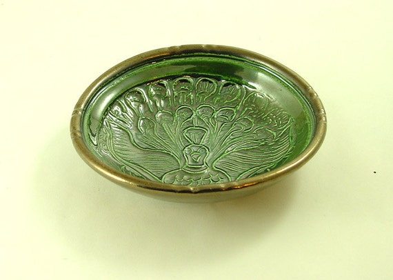 Ancient Peacock Design Offering Bowl