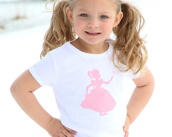 Royal Princess Nostalgic Graphic Tee in Short Sleeves - White with Pink FREE SHIPPING