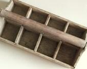 Primitive Antique Wooden Handled Crate by Uptown Vintage