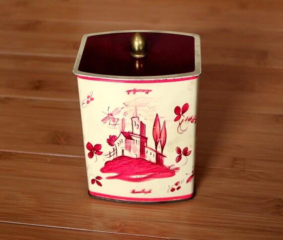 Vintage German Tea  Coffee Tin by Uptown Vintage