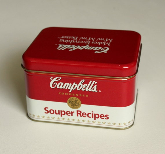 Vintage Campbell Soup Recipe Tin With Recipes By Uptown