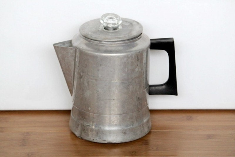 How To Use Vintage Coffee Maker : Old Fashioned Drip Coffee Pot 1950 s