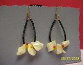Shell Chips and  Seed Beads Earrings