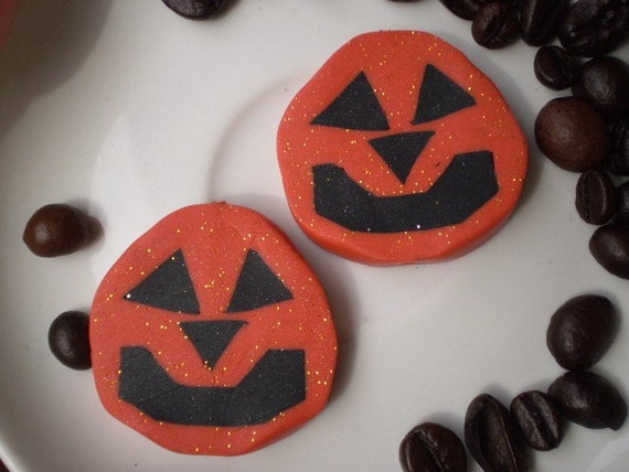 Sale - HALLOWEEN - 2 Polymer Clay BEADS - SPECIAL Edition