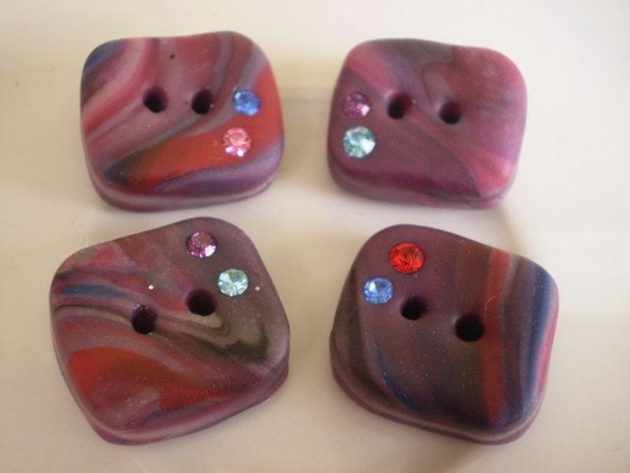sale.sale.sale - INNSBRUK - 4 Polymer Clay Buttons