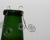 Music notes - Silver Earrings with Black Pearl FREE Shipping