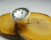 Sterling Silver Ring ,,Where is my sun,,