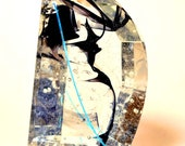 Fused Glass Sun Catcher - Black Marbled