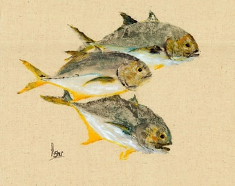 Jack Attack - Gyotaku Fish Rubbing - Limited Edition Print (20 x 16)
