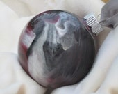 Just in Time for the CWS - Glass Ornament - Maroon and Black