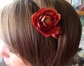 Deep Red Headband II