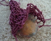 Mauve Beachwear Treasure Pouch for Shell Collecting