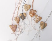 CUSTOM Brides or Bridesmaid Necklace  Heart Shaped Faux Stone Pottery and Fiber