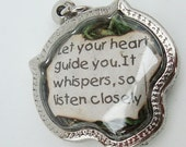 Let Your Heart Guide You Faux Stone Heart Terrarium Locket Necklace Mini Curio Display Natural World