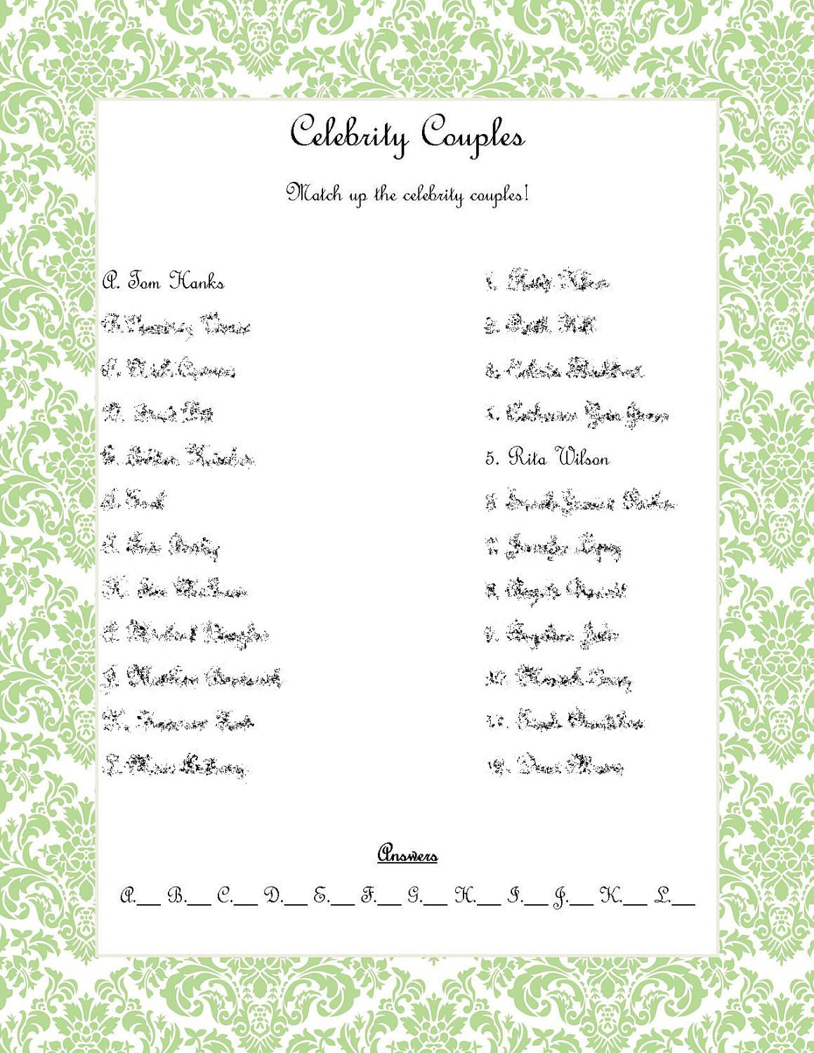 story bridal shower game ideas