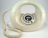 Vintage Ivory/Chrome Handbag Phone - Touch-Tone by Polyconcepts - Made in Hong Kong