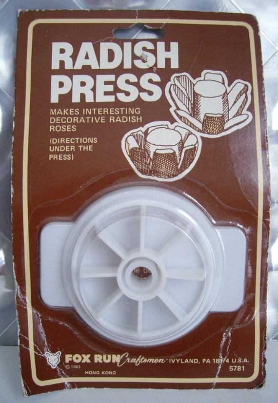 Radish Rose Press Kitchen Gadget - New in Package