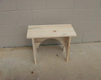 Shaker Style Arched Bench