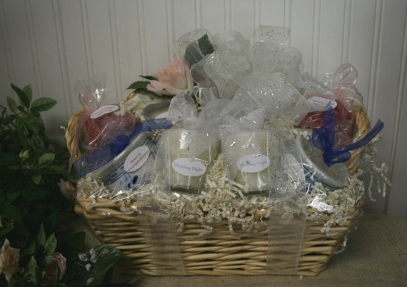 Candle Basket for Bridal Shower with Candle Poem - Wedding Gift Basket ...