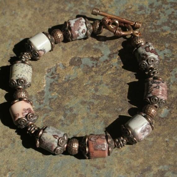Picture Jasper and Antiqued Copper Bracelet