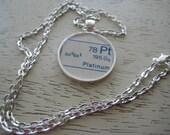 Platinum Periodic Table Silver Plated Pendant
