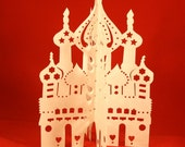 Russian Church with Onion Domes - Papercutting