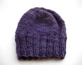 Violet wool hat - snow beanie