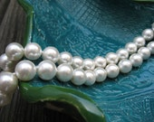 Natural Ivory South Sea Shell Pearl Necklace
