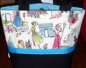 Small Parisian Tote or Diaper Bag